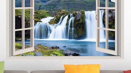 Samolepka na zeď - Islandské vodopády