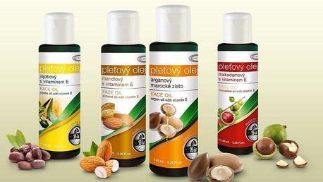 100% přírodní bio oleje Topvet pro péči o pokožku i vlasy