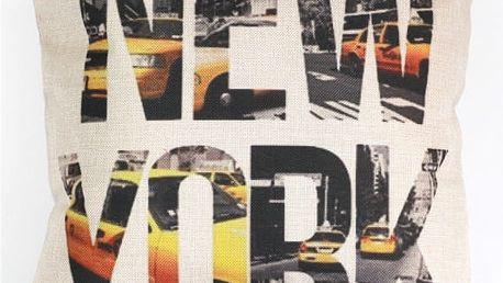 Povlak na polštář s nápisem New York - dodání do 2 dnů