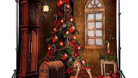 Fotopozadí do ateliéru s vánočním motivem - stromeček