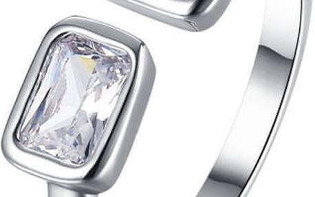Nastavitelný prsten ve stříbrné barvě