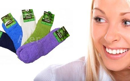 Dámské zdravotní hřejivé termo ponožky s bambusovým vláknem, různě jednobarevné. Dámské hřejivé ponožky vhodné na běžné nošení, při zimním sportování i spaní. Ponožky mají příjemný lem, který neškrtí.