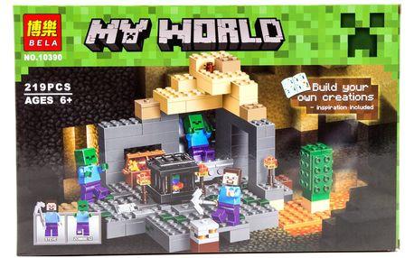 Stavebnice z populární hry MyWorld BELA 219 pcs