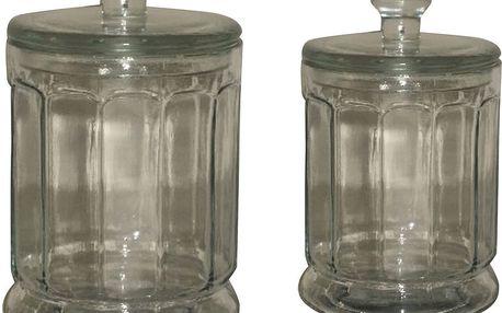 Sada 2 skleněných dóz Jar