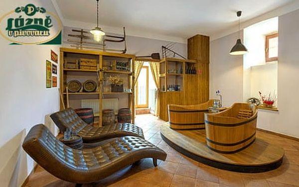 Lázně Poděbrady s pivní vířivou koupelí, neomezenou konzumací piva a ubytováním v hotelu Soudek