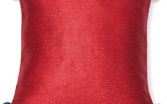 Červený polštář Pom Pom