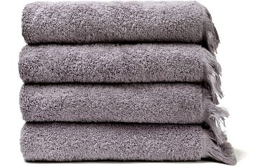 Sada 4 šedých bavlněných ručníků Casa Di Bassi Bath, 50x90cm
