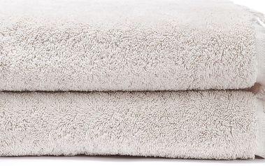 Sada 2 krémových bavlněných ručníků Casa Di Bassi Face, 50x90cm