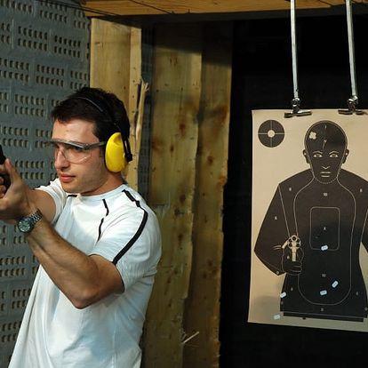 Střelba na kryté střelnici v Praze