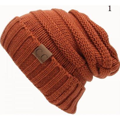 Unisex pletená čepice - 12 barev