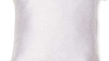 Bílý polštář Pom Pom