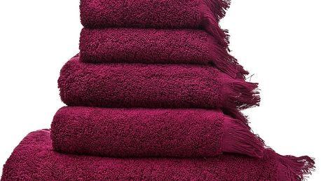 Set 8 vínových bavlněných ručníků a osušek Casa Di Bassi Bath