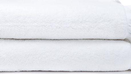 Sada 2 bílých bavlněných osušek Casa Di Bassi Bath, 100 x 160 cm