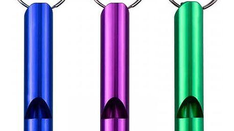 Bezpečnostní píšťalka - přívěsek na klíče - 3 kusy - dodání do 2 dnů