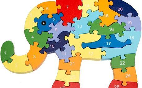 Vzdělávací dřevěné puzzle - rozvíjí jemnou motoriku a prostorovou představivost