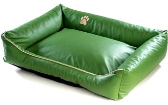 Argi pro psa obdélníkový EKO kůže - 150x115 cm / snímatelný potah zelený