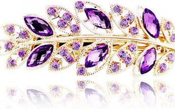 Dámská spona do vlasů v elegantním designu listu