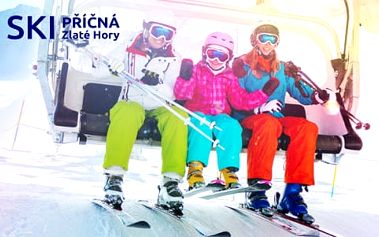 Naučte své děti lyžovat! Ubytování 100 metrů od sjezdovky v areálu SKI PŘÍČNÁ se stravou + dítě do 12 let ZDARMA