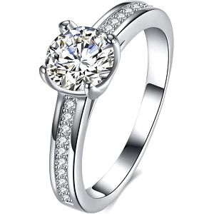 Honosný dámský prstýnek s kamínky