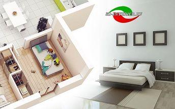 Online návrh místnosti do 30 m2 od bytového designera