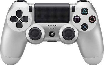 Sony PS4 DualShock 4, stříbrný - PS719822943