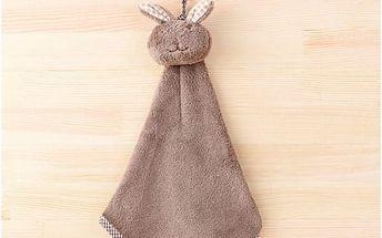 Dětský ručník na ruce v podobě králíka