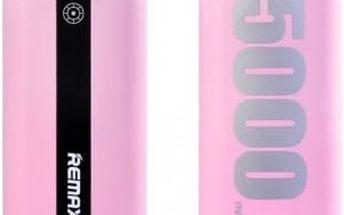 Remax E5 PowerBank 5000mAh růžová