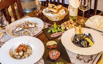 Středomořské menu s 5 degustačními chody