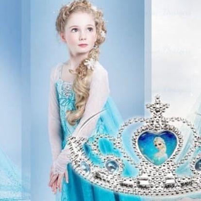 Překrásný dětský kostým, šaty anebo korunkaprincezny Elsy zLedového království, staň se i ty opravdovou princeznou (vel.110-140). Připravte pro své děti ideální masku a zaručte jim pozornost jejich okolí.