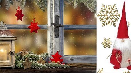 Oblíbená dekorace trpaslík do vašeho interiéru na váš stůl,parapet nebo jako zarážka do okna.