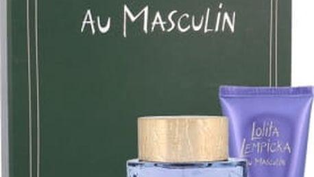 Lolita Lempicka Au Masculin dárková kazeta pro muže toaletní voda 100 ml + sprchový gel 75 ml