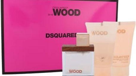 Dsquared2 She Wood dárková kazeta pro ženy parfémovaná voda 30 ml + tělové mléko 30 ml + sprchový gel 30 ml