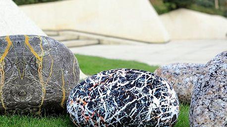 3D polštář v podobě kamenu - 3 varianty