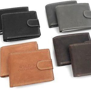Peněženka z broušené hovězí kůže ve 4 barvách