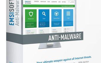 Antivirový program Emsisoft Anti-Malware, licence pro 3 PC na 1 rok. Ochrana pro váš počítač