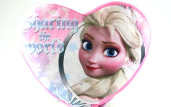 Oboustranný polštář ve tvaru srdce - Ledové království - dodání do 2 dnů