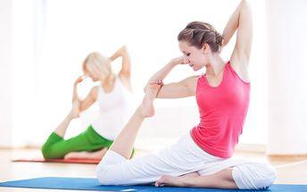 60min. lekce klasické jógy či lekce Zdravá záda s možností 30min. analýzy tělesné skladby