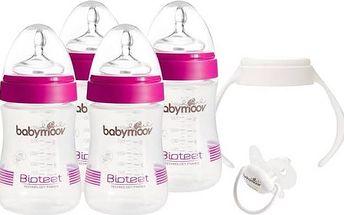 Startovací sada kojeneckých lahviček Babymoov Kit Bioteet růžová