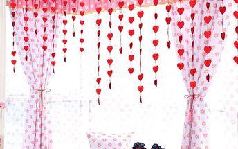 Srdíčková dekorace k zavěšení - dodání do 2 dnů
