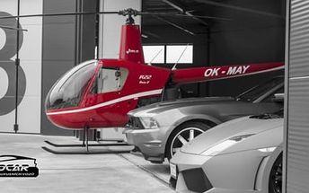Zážitkový let helikoptérou na 10 minut nebo pilotem helikoptéry na zkoušku pro 1 osobu