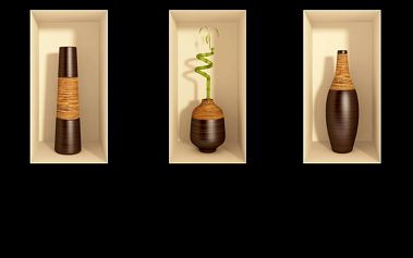 Sada tří 3D samolepek Ambiance Bamboo - doprava zdarma!