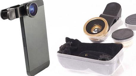 Univerzální objektivy na mobil 3 v 1 pro zachycení dokonalých fotografií