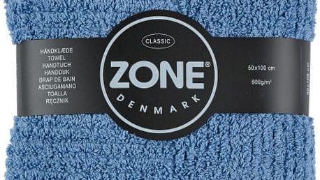 Modrý ručník Zone Classic 100x50 cm