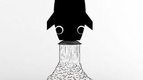 Samolepka na zeď - Vesmírná raketa