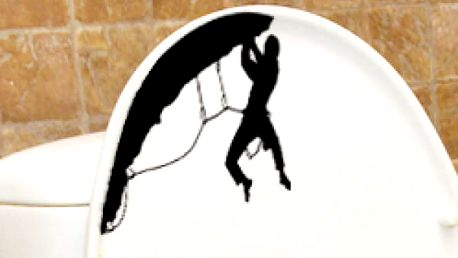 Samolepka na toaletu - Horolezec