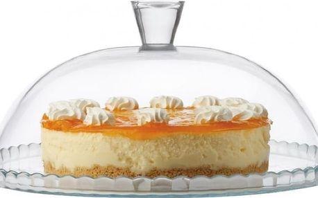Maxwell & Williams skleněný podnos na dort s poklopem, 32cm