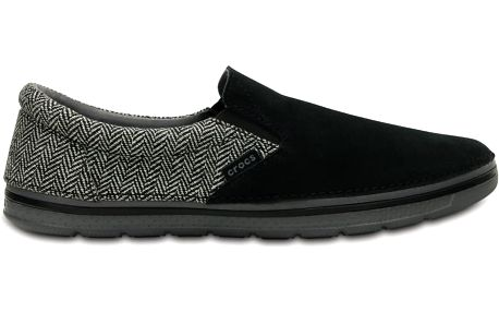 Crocs Men's Norlin Herringbone Slip-on Black, dostupné velikosti 42-46