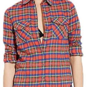Forever 21 Dámská košile Classic Plaid Flannel S