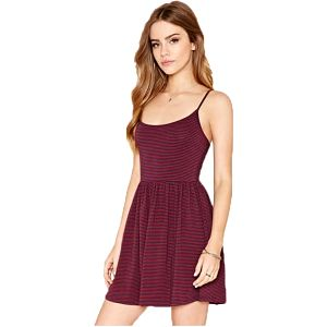 Forever 21 Dámské šaty Striped Knit Cami Dress S