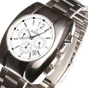 Dámské vodotěsné hodinky Aiers s kovovým páskem
